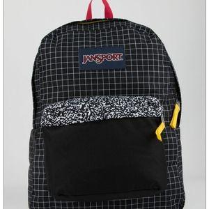 Black Grid JanSport SuperBreak Backpack